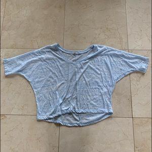 Alo Yoga Lightweight Crop Sweater/Top Size Medium